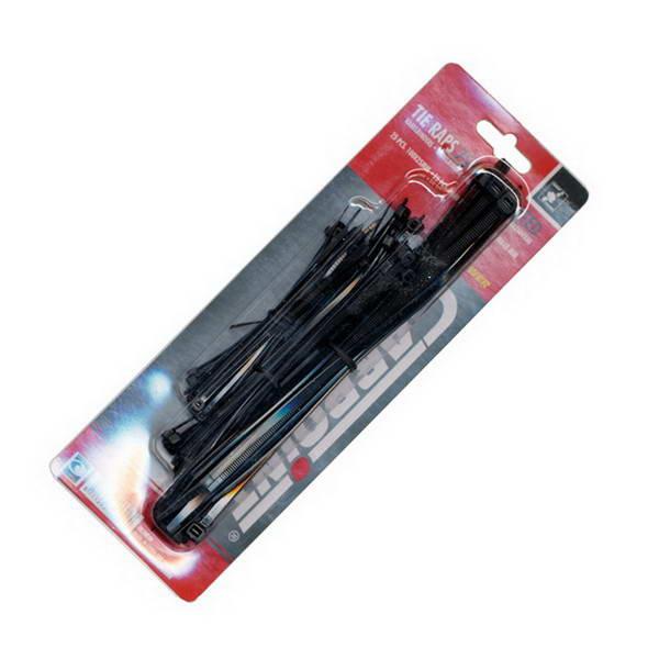 colliers de serrage plastique noir 3 tailles 75pcs. Black Bedroom Furniture Sets. Home Design Ideas