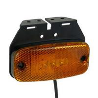FEU DE POSITION LATÉRAL LED ORANGE AVEC SUPPORT 9-32V