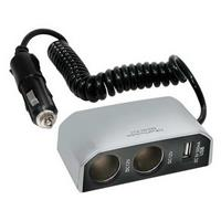PRISE ALLUME-CIGARE DOUBLE 8A 12V + PORT USB