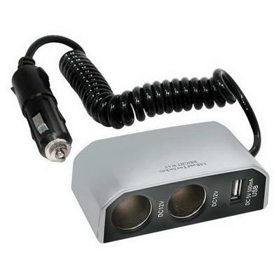 PRISE ALLUME CIGARE DOUBLE 8A 12V + PORT USB