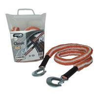 CABLE DE REMORQUAGE 3,5M 2500KG ORANGE / BLANC JUMBO