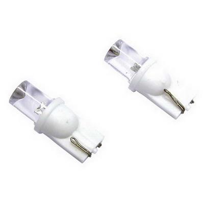 2 AMPOULES LED T10 WEDGEBASE 5W 12V BLANC CLAIR
