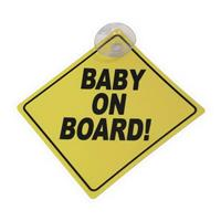 "PLAQUE ""BABY ON BOARD!"""