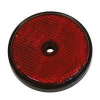 2 CATADIOPTRES ROND Ø70MM ROUGE