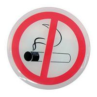 "AUTOCOLLANTS ""NO SMOKING"" Ø45CM 2PCS"